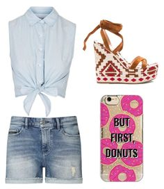 """Untitled #13"" by zain-mjalli on Polyvore featuring Topshop, Calvin Klein, Gianvito Rossi and Agent 18"