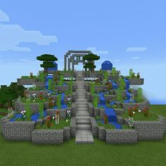 this minecraft garden looks amazing