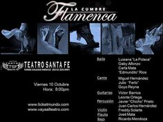 """Esta noche estalla """"La cumbre Flamenca"""" Pasión musical y taconeo. Viernes 8pm"""