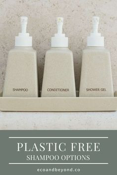 Switching to a plastic free shampoo will reduce your plastic consumption considerably. Reuse Bottles, Plastic Bottles, Solid Shampoo, Shampoo Bar, What Is Plastic, Glass Storage Jars, Homemade Shampoo, Personal Hygiene, Free Tips