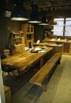 000-008 빈티지 북미산 소나무 고재 테이블 10인용 set : 네이버 블로그