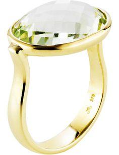 9ct Green Amethyst Flamenco Ring