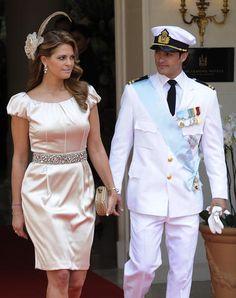 Prinz Carl-Philip von Schweden und Prinzessin Madeleine von Schweden bei der kirchlichen Trauung von Prinz Albert II von Monaco und Prinzessin Charlene.