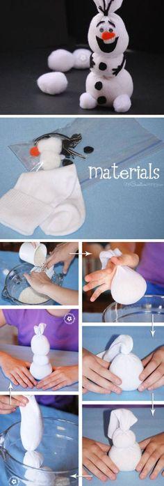 Olaf Sock Snowman Tutorial | DIY Christmas Crafts for Kids to Make