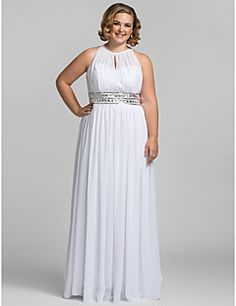 TS+Couture®+Prom+/+Formal+Evening+/+Military+Ball+Dress+-+Elegant+Plus+Size+/+Petite+Sheath+/+Column+High+Neck+Floor-length+Chiffon+with+Crystal+–+USD+$+104.49