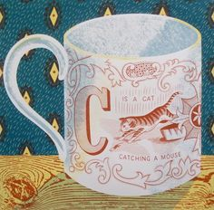 """""""C is a Cat catching a Mouse"""" by Emily Sutton (screenprint by The Penfold Press)"""