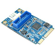 Motherboard Mini PCI Express to Dual USB 3.0 20-pin Expansion Card Adapter,Mini PCIe PCI-e to 2 ports USB w/ Molex 4-pin Power