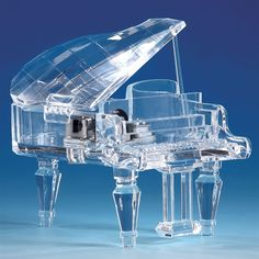Crystal Grand Piano Music Box