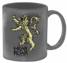 Dark Horse Deluxe Game of Thrones Coffee Mug: Lannister by Dark Horse Deluxe. $13.71. Represents the sigil of House Lannister, one of the noble families in the series. Also collect the House Baratheon mug. Based on HBO's award-winning television series, itself based on the A Song of Ice and Fire novel series by George R.R. Martin. From the Manufacturer                Continuing Dark Horse's series of licensed products based HBO's award-winning television series Game of Thron...