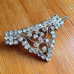 An original Art Deco hair clip now in my Etsy shop https://www.etsy.com/uk/listing/250630236/art-deco-hair-clip-slide-tiara-art-deco
