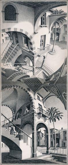 M.C. Escher: Up and Down, 1947