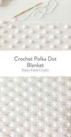 cute crochet This is a free pattern for a crochet polka dot blanket. The idea all started for this crochet polka dot blanket when I learned how to do the bobble stitch. Beau Crochet, Crochet Diy, Crochet Afghans, Love Crochet, Learn To Crochet, Baby Blanket Crochet, Beautiful Crochet, Crochet Crafts, Crochet Blankets