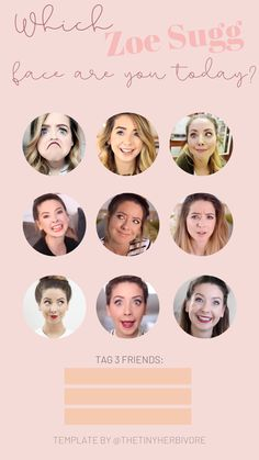 Do you love Zoe Sugg? If you're obsessed with her Youtube videos or lifestyle IG, then this Instagram story idea is perfect for you! Use one of these iconic Zoe Sugg reactions to share how you're feeling today and tag 3 friends! | Celebrity Pop Culture Instagram Story Ideas | Template by @thetinyherbivore #zoesugg #youtuber #instagram #storytemps #instagramstories #IGstories #instagramtemplates Best Instagram Stories, Instagram Story Ideas, Instagram Templates, Instagram Story Template, Zoe Sugg, 3 Friends, Good Movies, Plant Based, Pop Culture