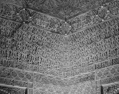 Detail of Plasterwork No. 4, the Alhambra, 2016. nigrumetalbum.com instagram.com/sashleyphotos
