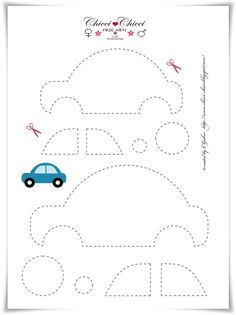 Free printable Car Template (for quiet book) Bird Template, Applique Templates, Applique Patterns, Applique Designs, Embroidery Applique, Felt Templates, Crown Template, Flower Template, Butterfly Template