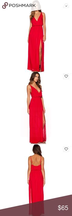 "Blue life ""high tide"" maxi dress in red Worn once, super cute dress can be dressed up with heels or down with sandals. Open to trades Blue Life Dresses Maxi"