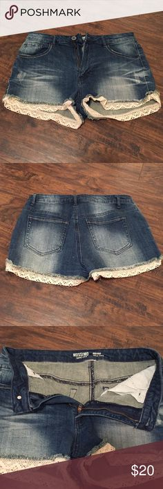 Jean Shorts w/ Detailing Size 9. NWOT. Tags cut out. Mossimo Supply Co. Shorts Jean Shorts