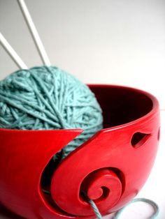 Knitting bowl, love the color!