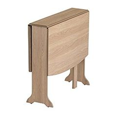 Mood Furniture HEATPROOF D-End Gateleg Drop Leaf Folding Table in Natural Oak - Solid Wood Frame - Heat Resistant Surface - 22x79x76Hcm Closed - 117x79x76Hcm Open - Heat, Scratch and Stain Resistant - Seats Up To 6 People: Amazon.co.uk: Kitchen & Home