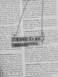Hamilton Broadway Aaron Burr, Sir Lyrics Double Bar Necklace - HAM4WESTEROS