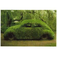 This Grass covered Camouflage Volkswagen Beetle gives a whole new meaning to the term driving green. Green Art, Go Green, Green Grass, Green Punch, Graffiti En Mousse, Moss Grass, Green Beetle, Beetle Bug, Moss Art