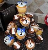 Puppy Dog Cup Cakes
