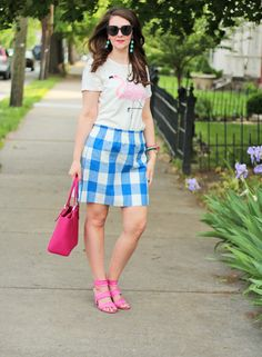 Bright on a Budget | Kentucky Affordable Fashion + Beauty Blogger: Picnic Plaid Skirt