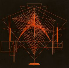 Kanata Goto, Drawing - Symbol, nylon threads, metal, leather, wooden panel, 45x45x4cm, 2016
