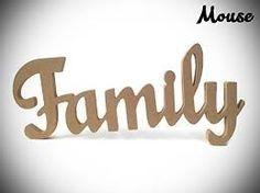 Resultado de imagen para family wood letters