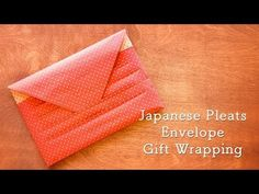 Video Tutorial: Japanese Pleats Envelope Gift Wrapping – Shiho's Craft Cafe