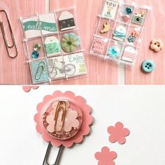 Some mini pocket letters and a shaker clip by Jackie Benedict