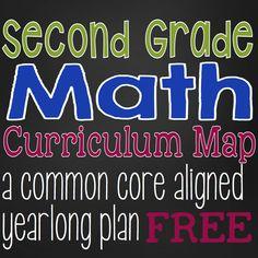 Second Grade Math Curriculum Map