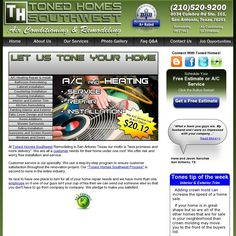 The website 'http://www.tonedhomes.com' visit Us