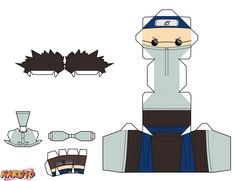 Since his early childhood, Shino has been a calm, collected, and solitary person, who is quite mysterious. Shino is portrayed as being somewhere between. Origami Naruto, Instruções Origami, Otaku Anime, Anime Naruto, Paper Toys, Paper Crafts, Figurine Anime, Paper Doll Template, Otaku Room