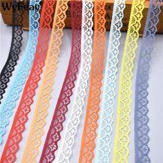 10 metres × 40mm Multi-Colour Diamond Patterned Crochet Cotton Lace Trim Vintage
