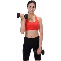 Sunny Health and Fitness Neoprene Single Dumbbell, 10lb Each, Black