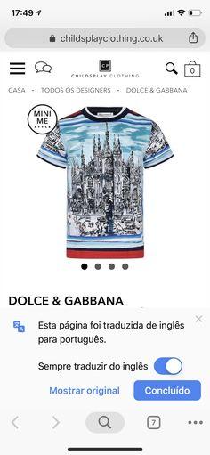 Dolce E Gabbana, Kids Fashion Boy, Boys, Mens Tops, T Shirt, Style, Baby Boys, Supreme T Shirt, Swag