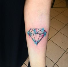 Watercolor Diamond by C4 Tattoo Shop