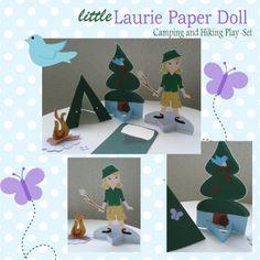 Cute for a camping theme classroom - This site has cute paper dolls for each major holiday.