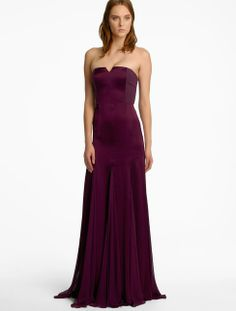 Genetic -Strapless Satin Gown