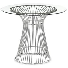 ZUO Whitby Modern Glass Dining Table in Stainless Steel - Solid chrome welded into perfection, the Whitby dining table is the absolute meaning of perfection. welded chrome with a thick tempered glass top. Glass Dining Table, Modern Dining Table, Dining Set, Dining Tables, Dining Rooms, Wire Table, Modern Outdoor Furniture, Coaster Furniture, Table Furniture