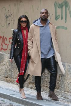 Kanye West and Kim Kardashian West.