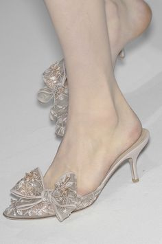Shoes at Valentino Haute Couture Fall 2010  Love these every time I see a picture of them I can't hel...