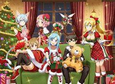 Sinon, Sílica, Lisbeth, Asuna, Yui, Kirito & Leafa - By Sword Art Online Kirito and Asuna ღ
