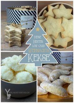 Meine besten low carb Plätzchen Rezepte für euch Ich wünsche euch eine schöne und besinnliche Vorweihnachtszeit. Folgt einfach den links unter den Fotos zu den jeweiligen Rezepten: –> Koko…