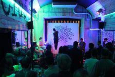 Noumeda Carbone live painting.  Acrylic on canvas 250cm x200cm.  **Monday Jazz** organized By Stefano Tamborrino.  With Stefano Tamborrino ,Simone Graziano, Emanuele Parrini, Max Sorrentini, Claudio Ingletti.    Photo: Gabriele Mori   #live #painting #noumeda #art #canvas #artist #at #work