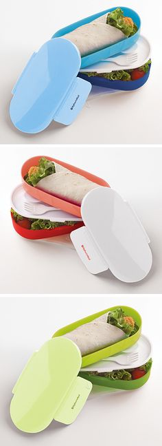 Convertible Bento Container | green lunch box #product_design