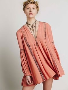 Free People Babydoll Lace Inset Swing Tunic, $108.00