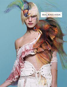 Balenciaga Spring 2001 campaignmodel:  Delfine Bafort photographer:  Inez van Lamsweerde & Vinoodh Matadingraphics: M/M Paris
