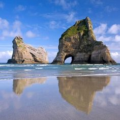 Places To Visit @visitpics Instagram photos | Websta  Wharariki Beach, New Zealand